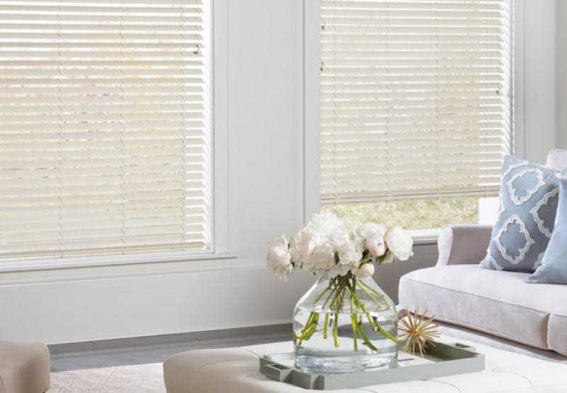 Everwood® Renditions™ horizontal faux wood blinds