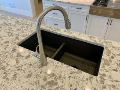 marble countertop with undermount sink